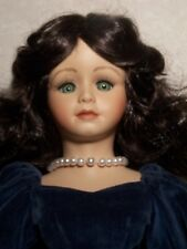 "SCARLETT O'HARA Southern Belle Blue Portrait 19"" Seymour Mann porcelain doll"