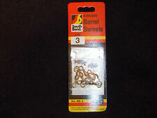 72 SOUTH BEND Brass Barrel Swivels Size 3 No. BS-3 (12 Packages  of 6)((#3069))