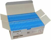 Sony MD Blank Minidisc 80 Minutes Recordable MD MDW80BC 50 disk set new