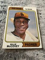 1974 Topps Willie Mccovey Baseball Card #250 Washington