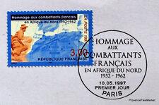 COMBATTANT AFRIQUE  FRANCE Yt 3072 OBLITERATION 1er JOUR  NOTICE PHILATELIQUE