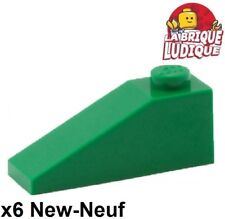Lego - 6x slope brick slope inclined 33 3x1 green/green 4286 NEW