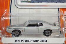 PONTIAC GTO JUDGE 1970 SILVER GREENLIGHT MUSCLE SERIES 9 13090 1:64 NEW