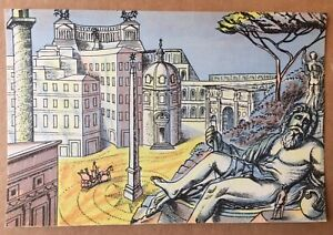 Edward Bawden; original lithograph from 'Travellers Verse' 1946.Rome.