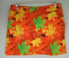 Loudmouth Ladies Element Fall & Oaks Size 8 Womens Skorts NWT Bright & Bold