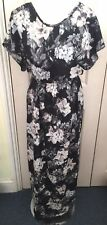 BNWT River Island Black Floral Maxi Short Sleeve Dress UK8 RRP£40