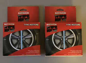 (2)New Rustoleum Wipe Tyre Restore Tire Care Detail Protect Shine Clean Beautify