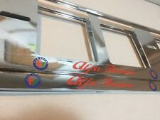 2X NEUF ALFA ROMEO MITO GT 147 EXCLUSIF SUPPORT DE PLAQUE D'IMMATRICULATION