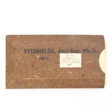 Original British Wwii Anti-Gas Eye Shields in Original Packaging- Not For Use