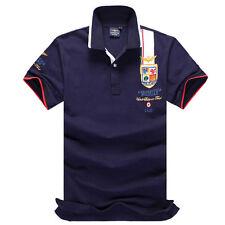 Shirt Short Sleeve Lapel POLO Men's Clothing T-shirt Summer Solid Casual S-4XL
