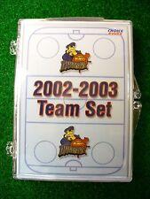 '02-03 ECHL AHL Peoria Rivermen Team Hockey Card Set St Louis Blues Alaska Aces
