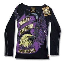 HARLEY DAVIDSON TRUNK LTD THE MIGHTY GIRLS JUNIORS LONG SLEEVE SHIRT XS NEW