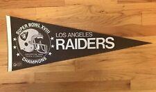 Oakland Raiders NFL Football Vintage Pennant Super Bowl XVIII Champions 1984