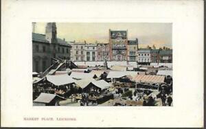 Leicester - Market Place - 'Albion' postcard c.1905-10