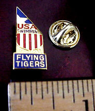 USA Olympic Swimming Team FLYING TIGERS CARGO AIRLINES Metal & Enamel Pin