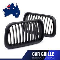 2pcs Car Front Kidney Bumper Grille For 97-99 BMW E36 318i 323i 328i Matte Black