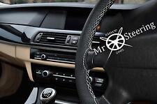 Para Chevrolet Colorado me Cubierta del Volante Cuero Perforado Blanco Doble St