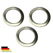 3 placas de acero inoxidable de Ø 7,0 cm de platos de estaño 0,25 litros