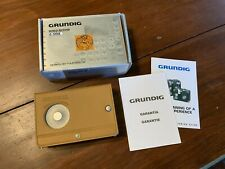 Grundig World Receiver G-2000A Radio Design by Porsche Leather Case & Box