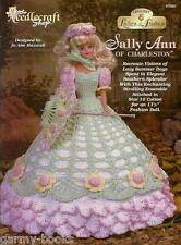 Sally Ann of Charleston Ladies of Fashion Crochet Pattern for Barbie Dolls NEW