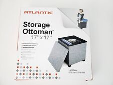 "Atlantic Storage Ottoman 17"" x 17"" x 17"" New in Box"