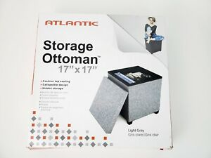 "Atlantic Storage Ottoman 17"" x 17"" x 17"" New in Box"