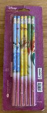 Disney Princess Writing 6 Pack Wood Pencils - Ariel, Cinderella, Belle Fast Ship