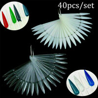DIY False Nail Art Polish Gel Art Tip Sample Practice Display Fan Wheel Holder
