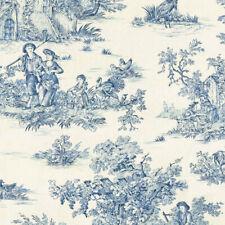 Textiles français Toile de Jouy Fabric (La Grande Vie Rustique) Blue