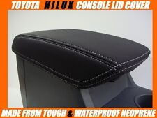 TOYOTA HILUX NEOPRENE CONSOLE LID COVER ( WETSUIT FABRIC ) JUNE 2005  - Aug 2015
