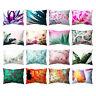 FJ- Plant Leaf Flower Throw Pillow Case Sofa Bed Chair Cushion Cover Home Decor