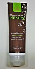 2018 Naturally HEMPZ NATURAL BRONZER WITH HEMP SEED OIL TANNING BED LOTION