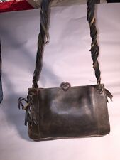 pre-loved authentic MOSCHINO CHEAP & CHIC brown leather SHOULDERBAG retail $1200