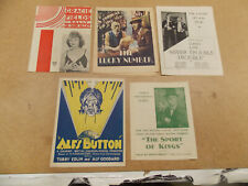LOT OF 5 DIFFERENT ORIGINAL HERALDS FROM BRITISH FILMS OF THE 1930'S