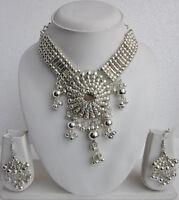 Beaded Metal Beads Jewelry Necklace Earrings Boho Gypsy Hippie Festival Fashion