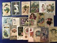 "Very Nice 20 ""Made In Germany"" Birthday Antique Postcards For Collectors w Value"