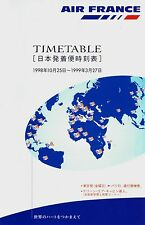 Air France Japan Timetable  October 25, 1998 =