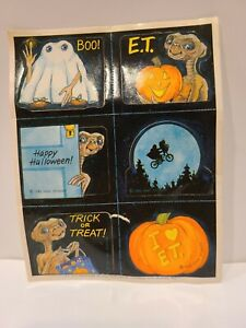 1 vintage 1982 universal studios E.T. sticker sheet Halloween