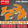 Adhesivo Etiqueta Engomada Números Race Italy Cáscara Coche Moto Gp Cross Tri A