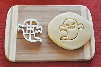 Halloween Ghost Angry Cookie Cutter Biscuit Stamp Cake Topper Fondant