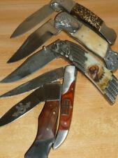 5 Stück verschiedene Taschenmesser -Klappmesser-Jagdmesser-Edelstahl