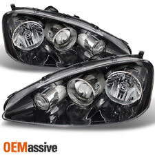 2005-2006 RSX Integra DC5 Black Clear Headlights Front Lamp Replacement Pair Set