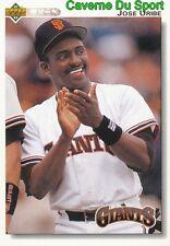 270 JOSE URIBE SAN FRANCISCO GIANTS BASEBALL CARD UPPER DECK 1992
