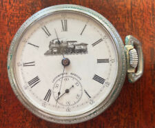 17 Jewel Pocket Watch Amazing 1901 Railroad Locomotive Special