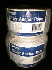 2 x 50m x 6mm ANCHOR ROPE PACKS STAINLESS S THIMBLE NEW