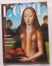 L'œil – L'art sous toutes ses formes – 1975 – Memling – Art Mosan –