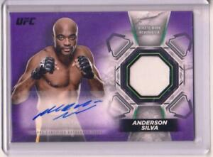 2018 Topps UFC Knockout Anderson Silva Relic PURPLE #7/25 Made G.O.A.T SPIDER