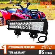 "11.8"" COMBO LED WORK LIGHT BAR Fit Polaris RZR Sportsman 570 John Deere ATV UTV"