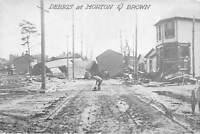Dayton Ohio 1913 Postcard Flood Debris At Morton & Brown