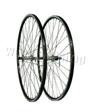700c Rigida Ryde Front and Rear Black Rim Silver Hub Pair Wheels